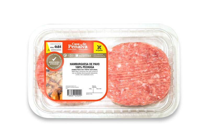 Hamburguesa de Pavo 100% Pechuga
