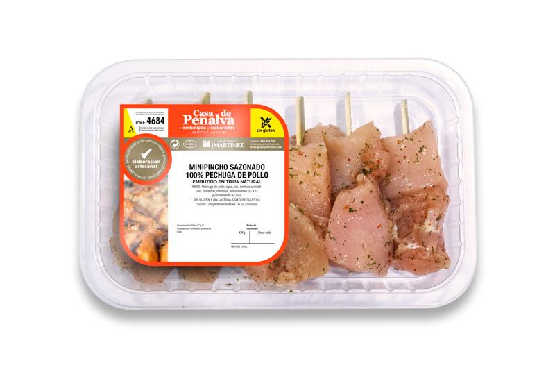 Mini-pincho Sazonado 100% Pechuga de Pollo